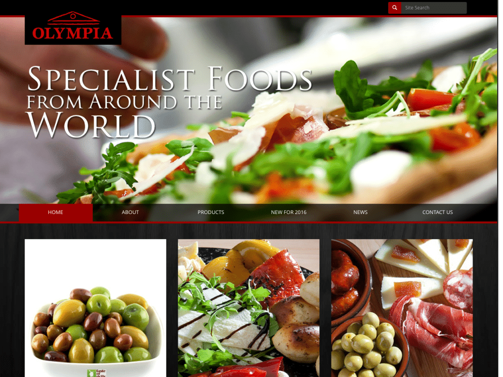 "<a href=""http://olympiafoods.co.uk/"" target=""_blank"">Olympia Foods</a> - Designed By <a href=""http://sanddogdesign.co.uk""  target=""_blank"">Sanddog Design</a> & Developed By StuartMedia"