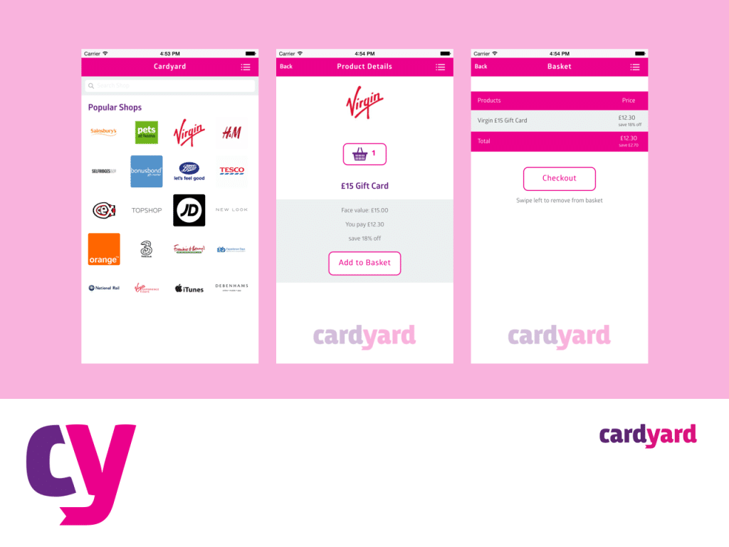 "<a href=""https://www.cardyard.co.uk/"" target=""_blank"">cardyard</a> iOS and Android App - Designed and Developed By StuartMedia"