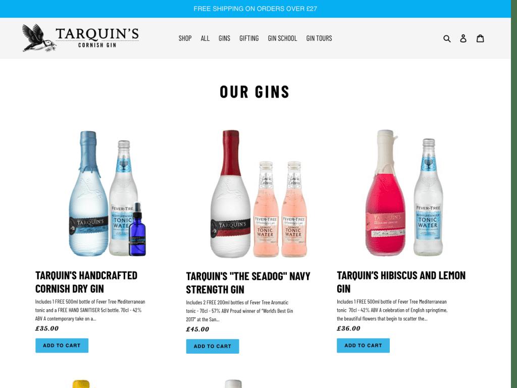Tarquins Cornish Gin Shop